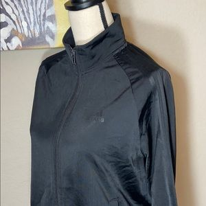 Adidas Track Jacket. Black on Black. Size Small.